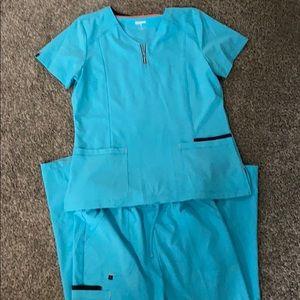 Turquoise scrubs